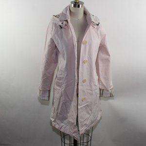 BURBERRY London Pink Coat Jacket Sz 10R